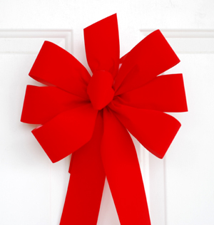 Handmade Christmas Wreath Bows