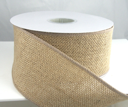 All natural jute burlap ribbon wired