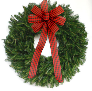 wreath christmas tree